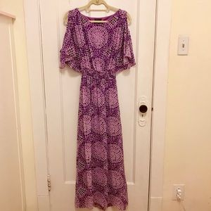Laundry Shelli Segal Purple Maxi Dress